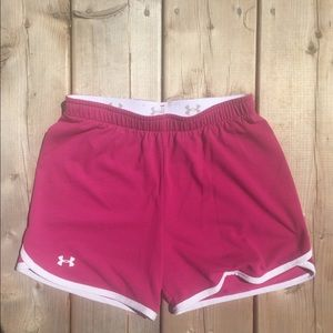 Pink Under Armour Athletic Shorts with Waistband